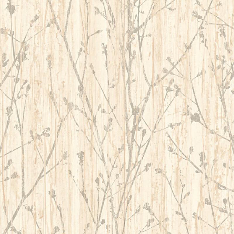 AS Creation Leaf Branch Beige/Grey Wallpaper - 32713-1