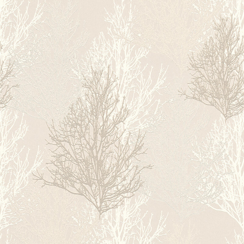 AS Creation Omega Tree Cream Glitter Wallpaper - 34819-1