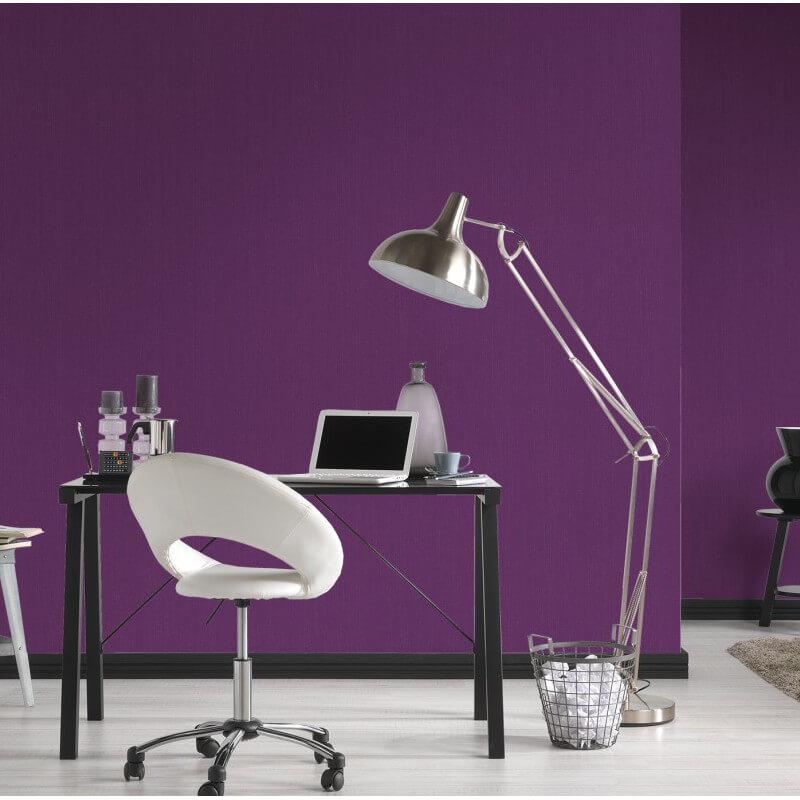 AS Creation Plain Glitter Purple/Silver Wallpaper - 30177-4