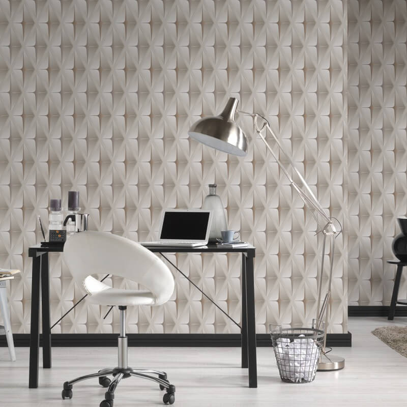 AS Creation Square 3D Effect Beige/Brown Wallpaper - 960411