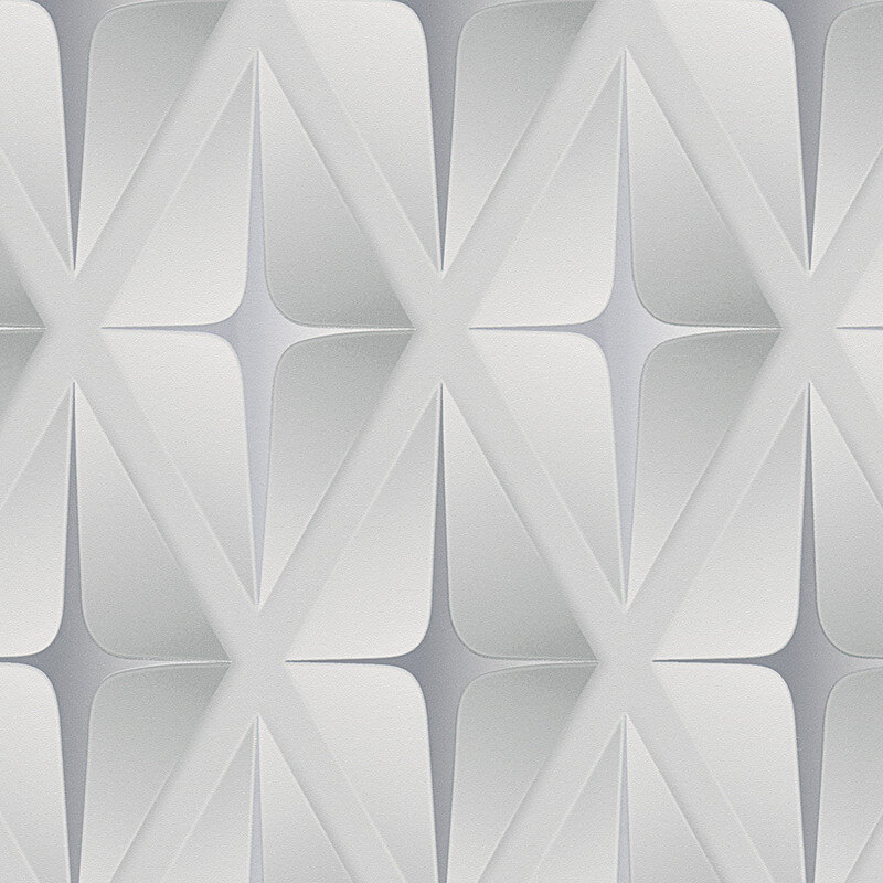 AS Creation Square 3D Effect Grey/White Wallpaper - 960412