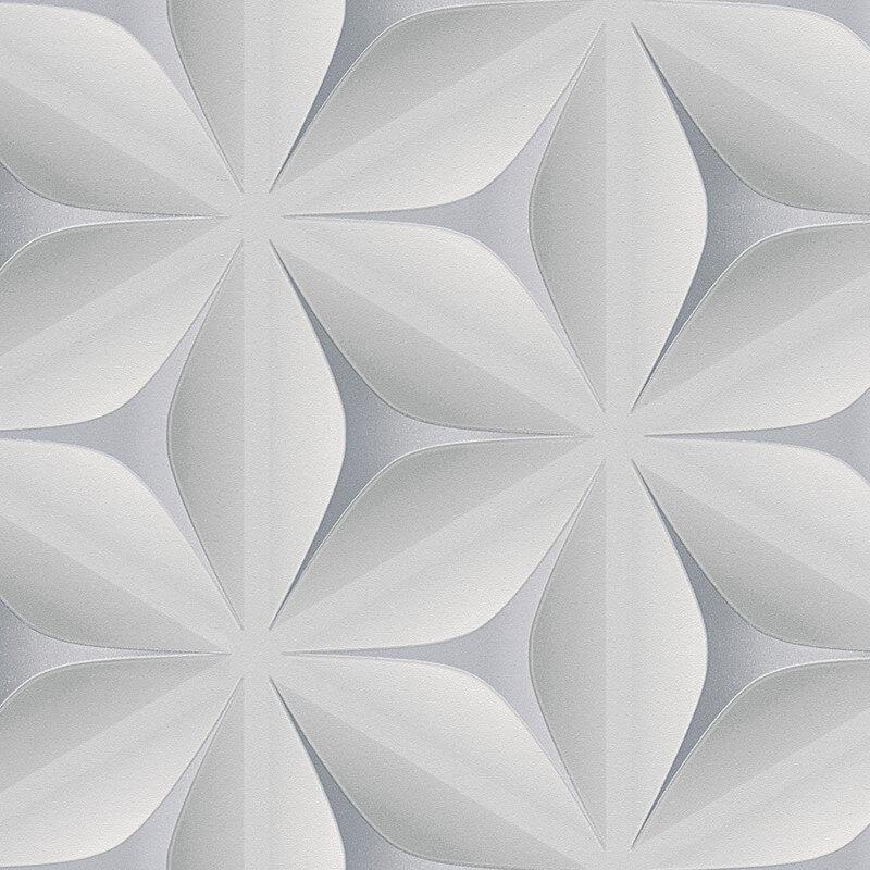 AS Creation Star 3D Effect Steel Grey Wallpaper - 96042-1