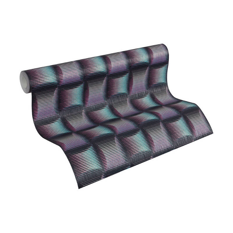 As Creation Stripe Square 3D Effect Multi Wallpaper - 961804