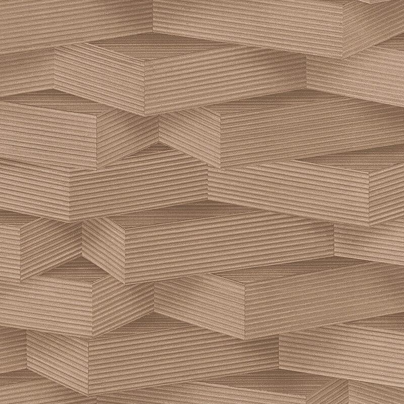 AS Creation Wood Block 3D Effect Beige Wallpaper - 960001