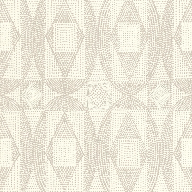 Barbara Becker Geometric Dots White/Silver Wallpaper - 861815