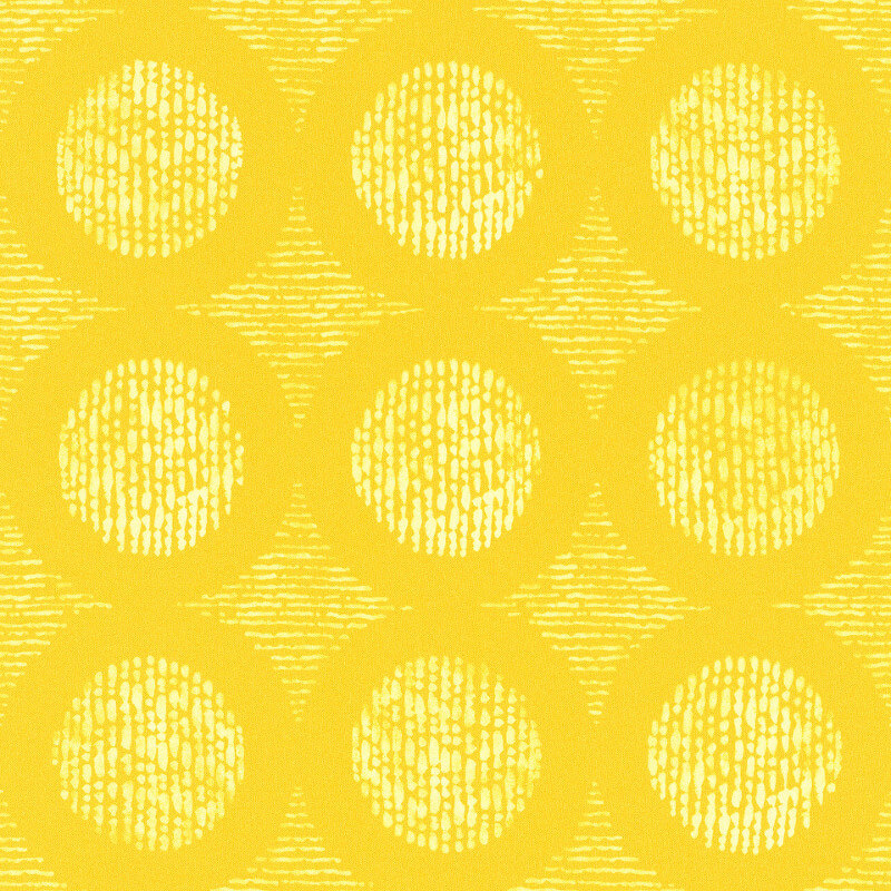Barbara Becker Geometric Motif Golden Yellow Wallpaper - 862218