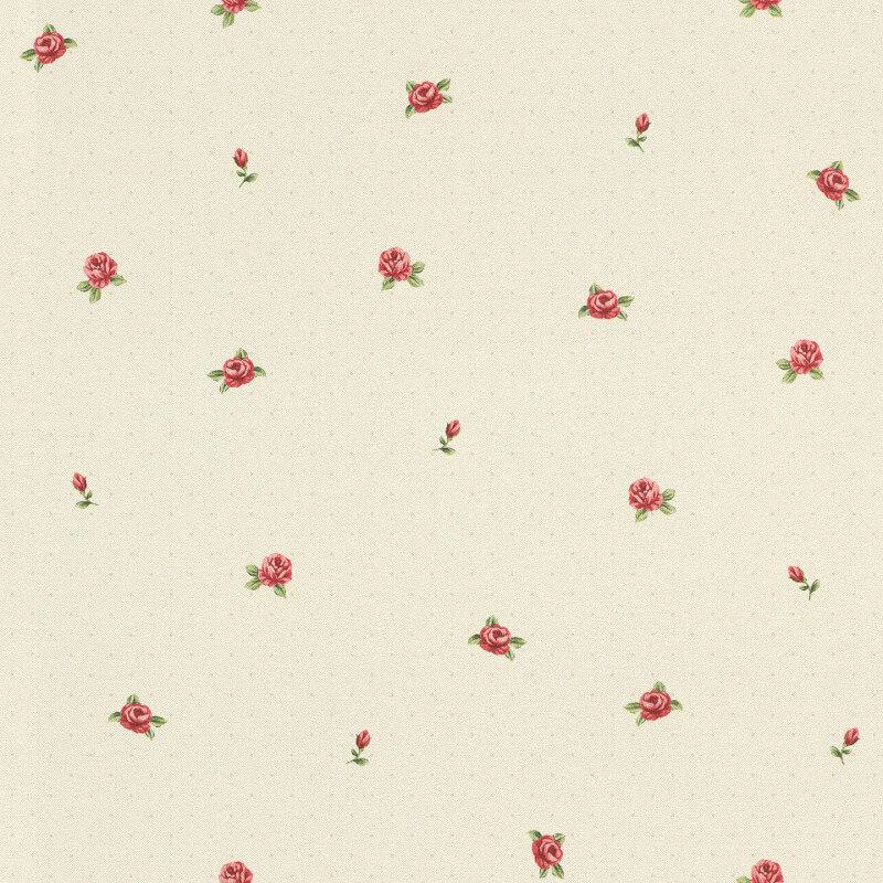 Barbara Becker Roses Cream/Red Wallpaper - 860306