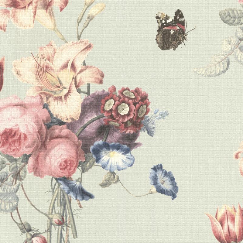 Barbara Schöneberger Bouquet Floral Soft Aqua Wallpaper - 527650