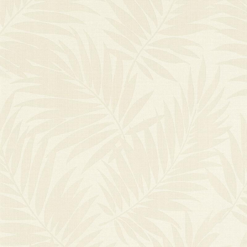 Barbara Schöneberger Ferns Motif Cream/White Wallpaper - 527537