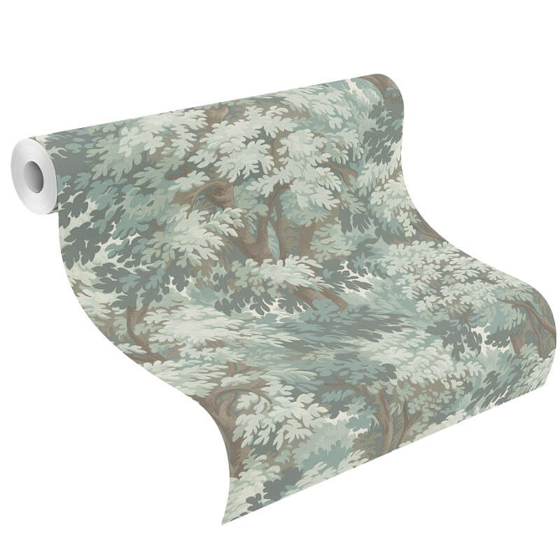 Barbara Schöneberger Forest Tree Sage Green Wallpaper - 528213