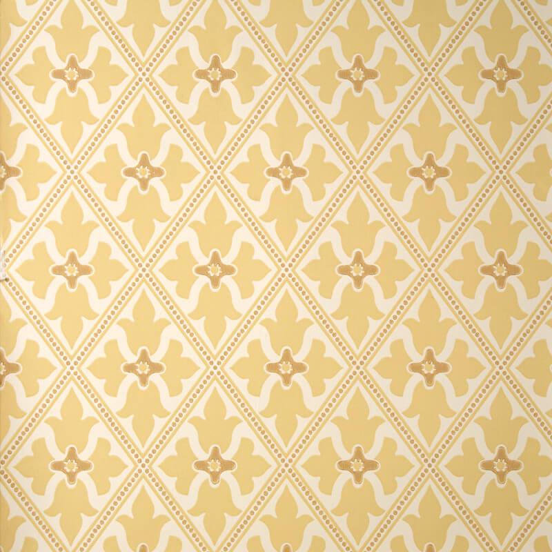 Little Greene Bayham Abbey Wallpaper in Light Gold