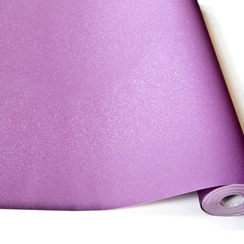 Grandeco Expressions Plain Purple Glitter Wallpaper - BXB-035-06-4