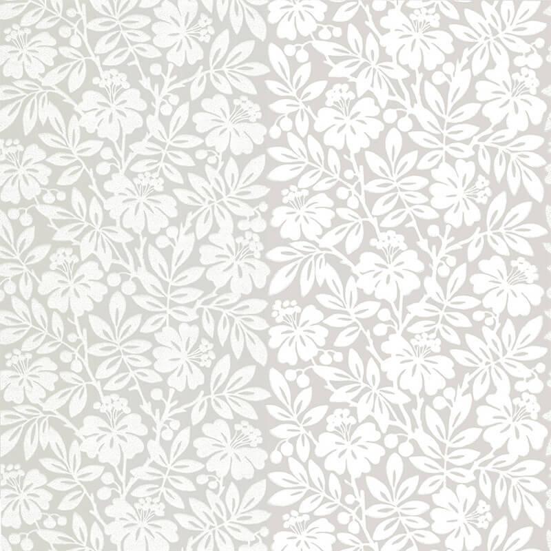 Little Greene Carlisle Street Wallpaper in Gentle Grey