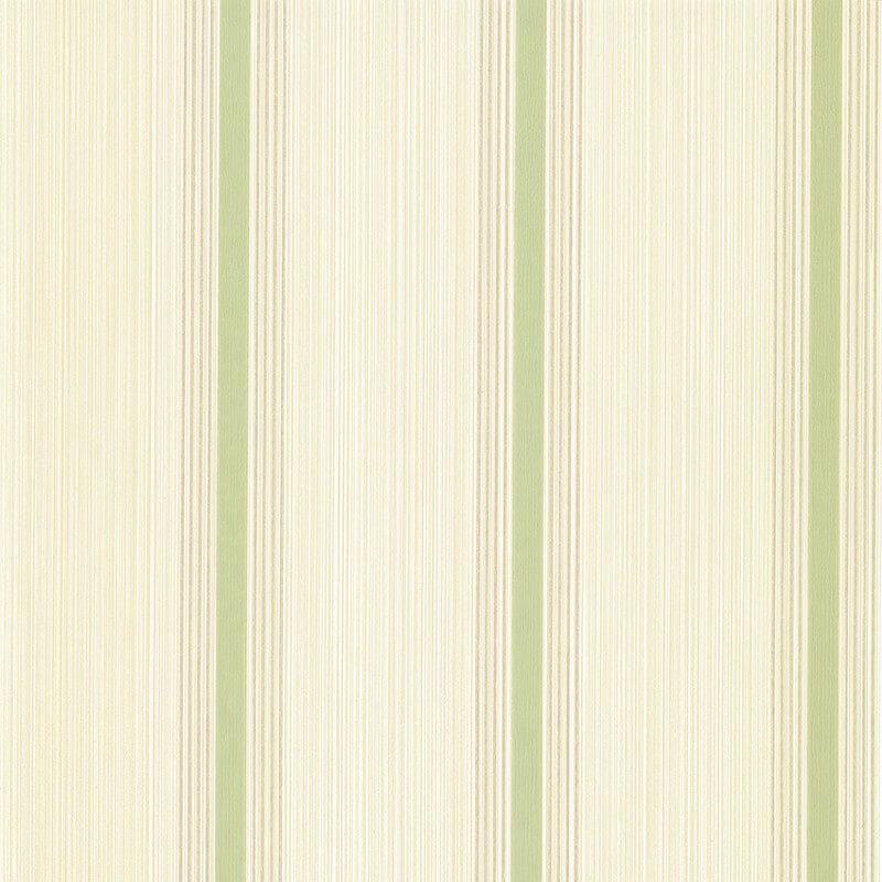 Little Greene Cavendish Stripe Wallpaper in Brush Green