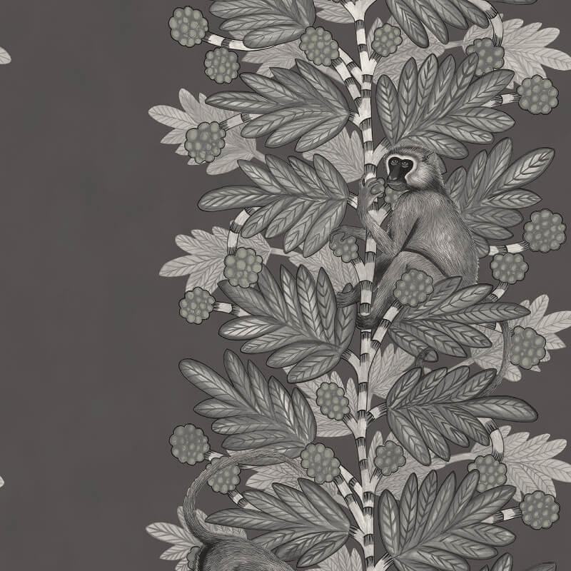 Acacia Charcoal Silver Wallpaper