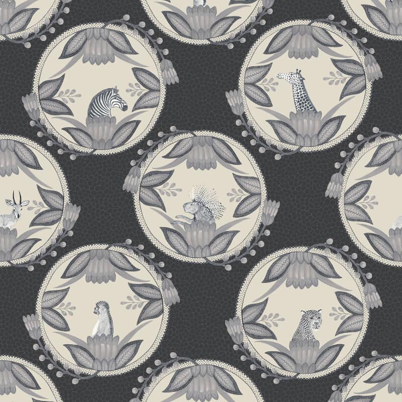 Cole & Son Ardmore Cameos Black/White Wallpaper - 109/9043