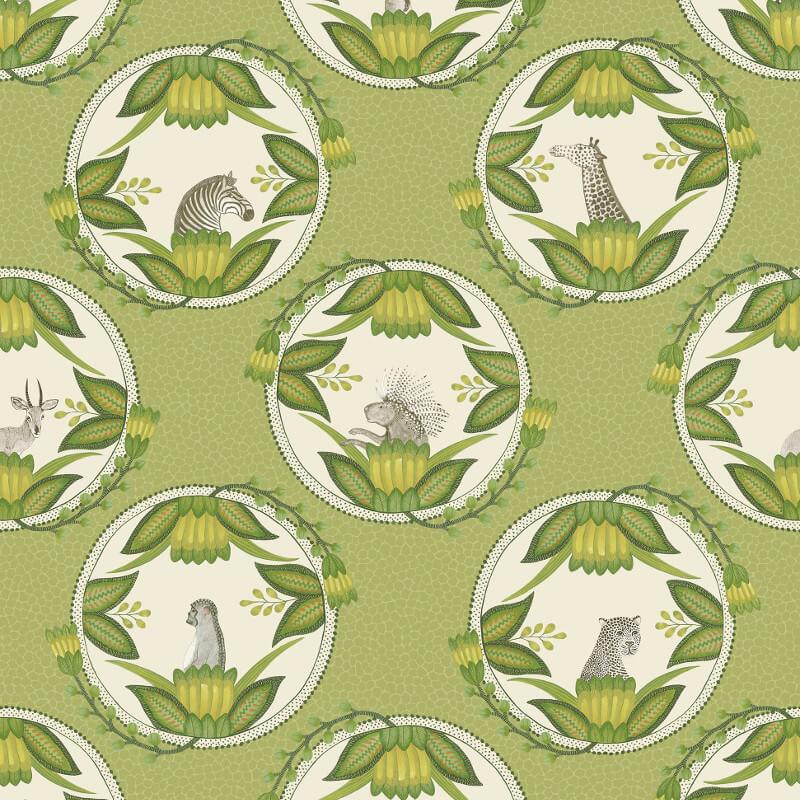 Cole & Son Ardmore Cameos Green Wallpaper - 109/9042