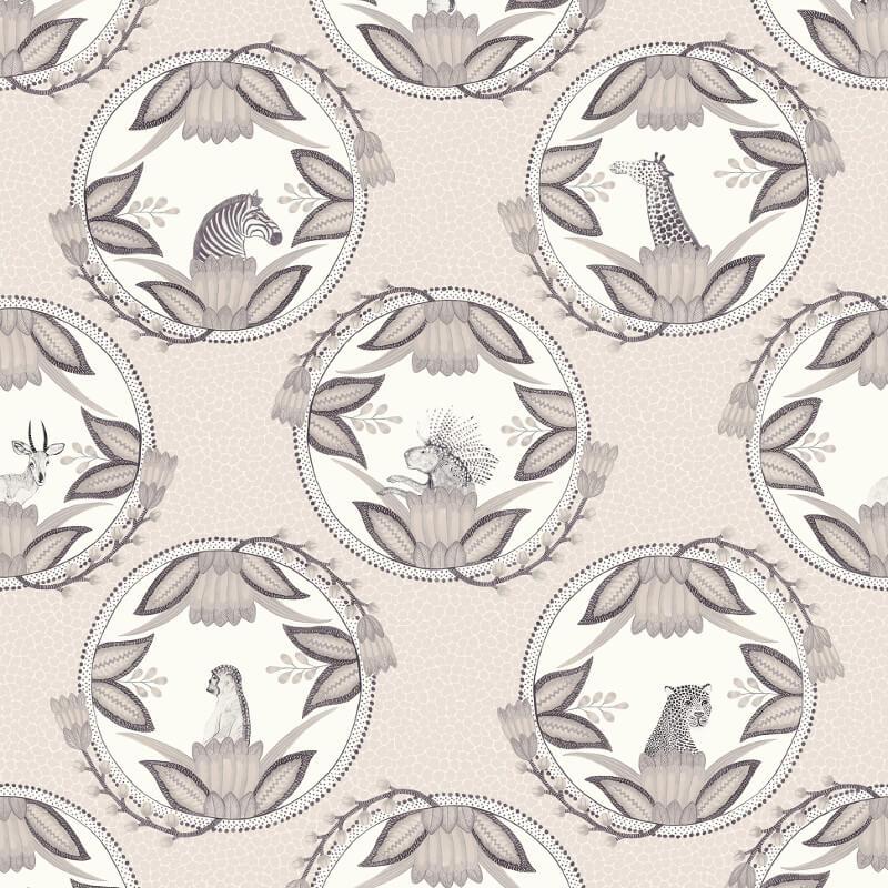 Cole & Son Ardmore Cameos Grey Wallpaper - 109/9044