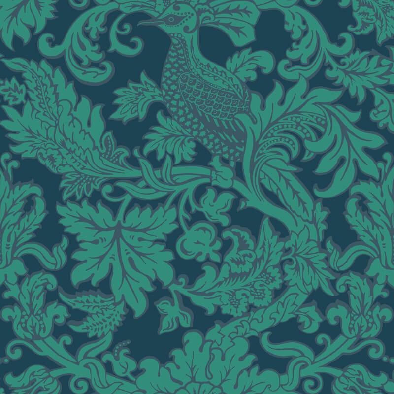 Cole & Son Balabina Midnight/Jade Wallpaper - 108/1005