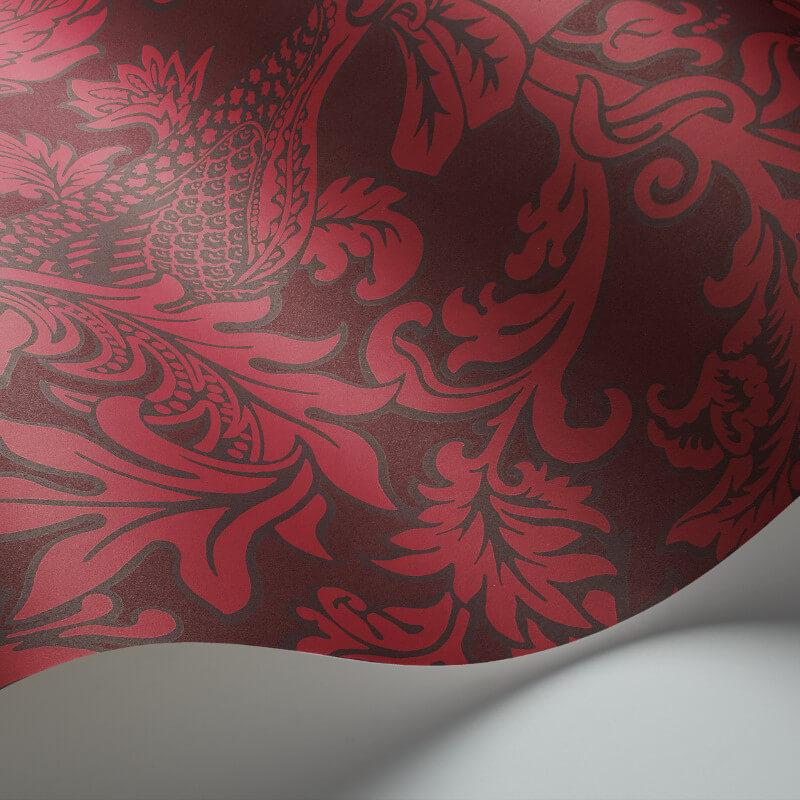 Cole & Son Balabina Velvet Red Wallpaper - 108/1004