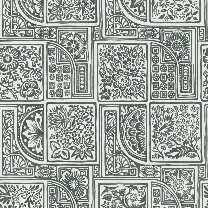 Cole & Son Bellini Black/White Wallpaper - 108/9046
