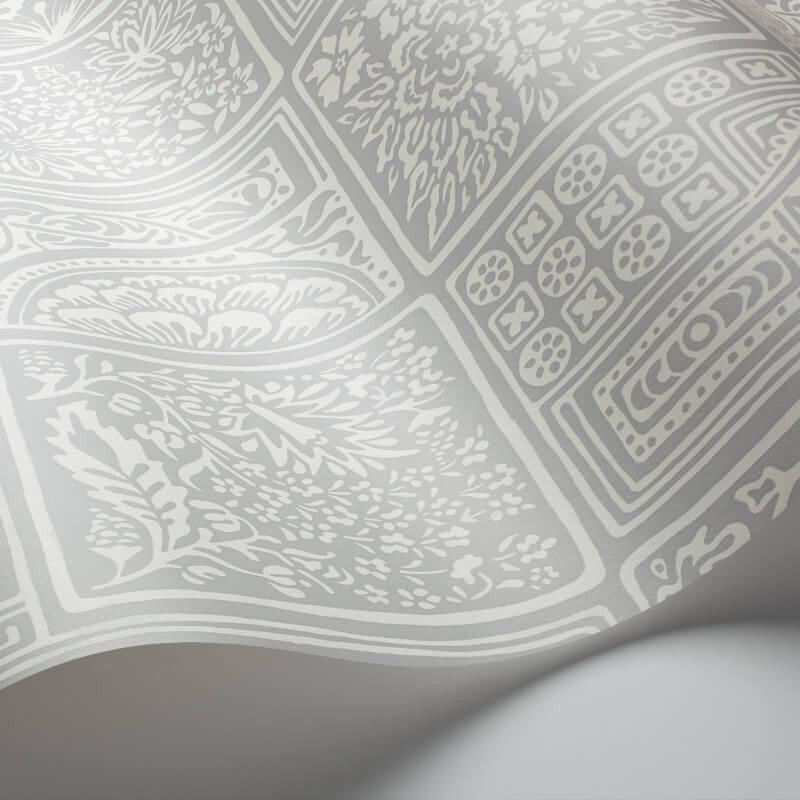 Cole & Son Bellini Grey/White Wallpaper - 108/9047