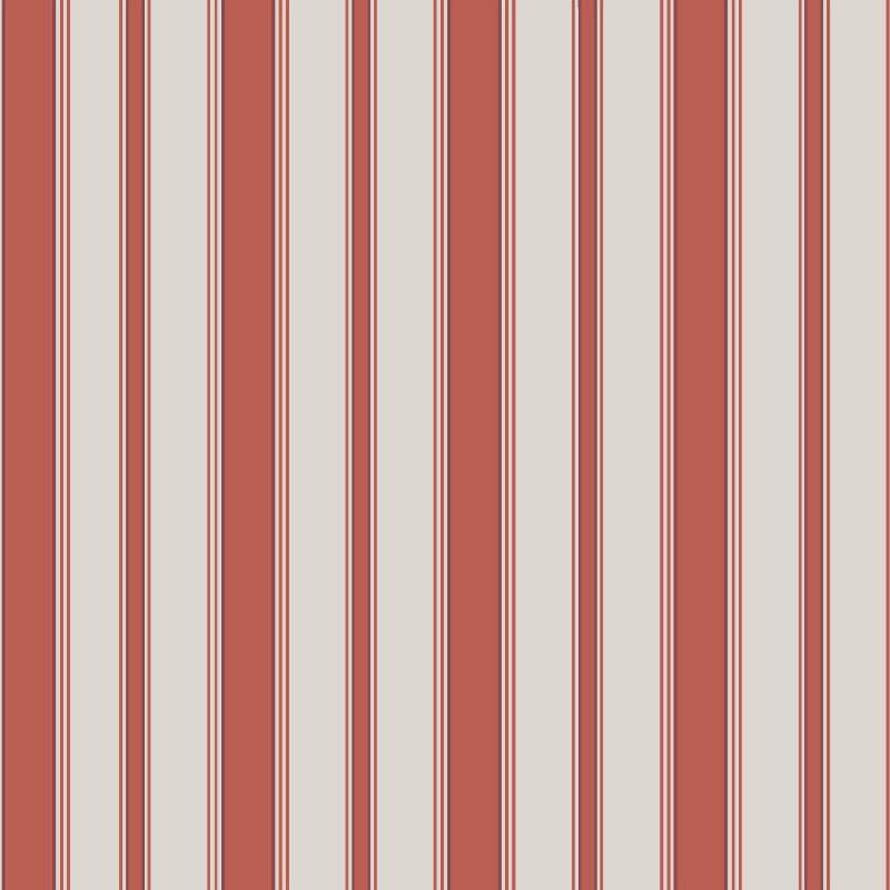 Cole & Son Cambridge Stripe Red Wallpaper - 96/1001