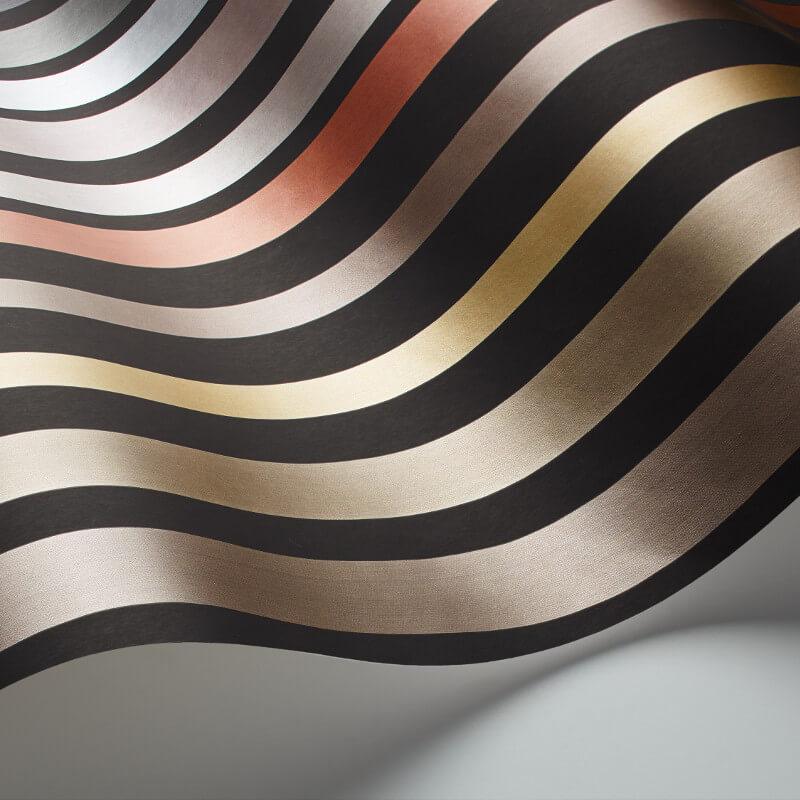 Cole & Son Carousel Stripe Charcoal Wallpaper - 108/6031