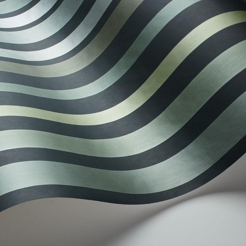 Cole & Son Carousel Stripe Frosty Green Wallpaper - 110/9041