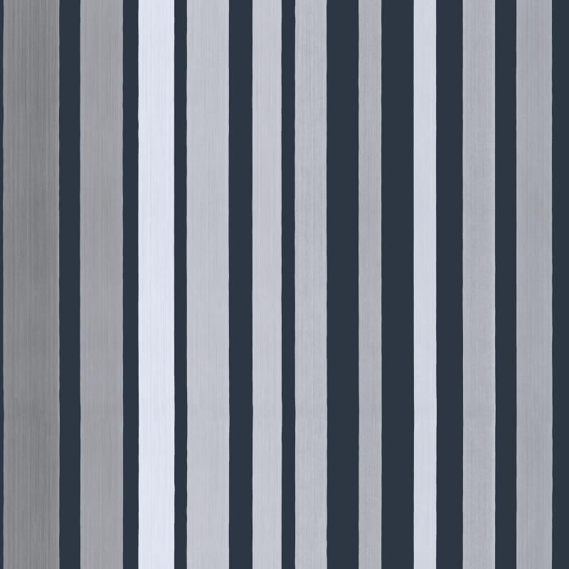 Cole & Son Carousel Stripe Grey Wallpaper - 110/9043