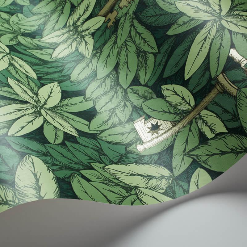 Cole & Son Chiavi Segrete Green Wallpaper - 97/4014