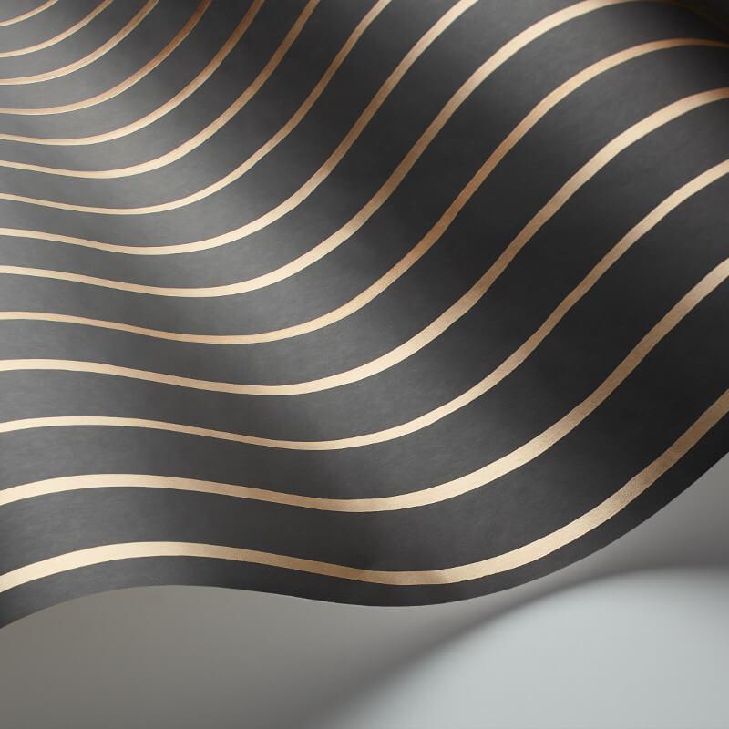 Cole & Son College Stripe Charcoal Wallpaper - 110/7034