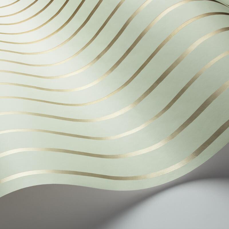 Cole & Son College Stripe Duckegg/Gilver Wallpaper - 110/7036