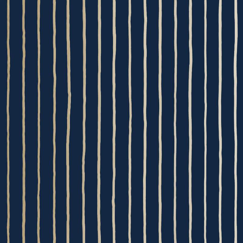 Cole & Son College Stripe Ink Wallpaper - 110/7037