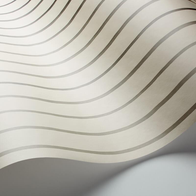 Cole & Son College Stripe Linen Wallpaper - 110/7035