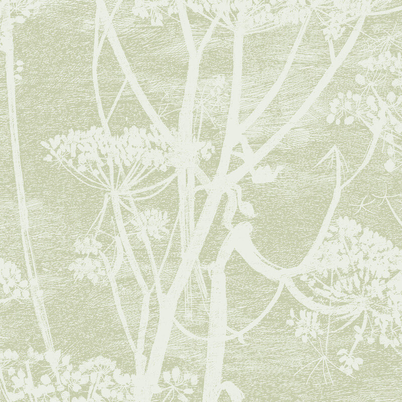 Cole & Son Cow Parsley Olive Green Wallpaper - 112/8029