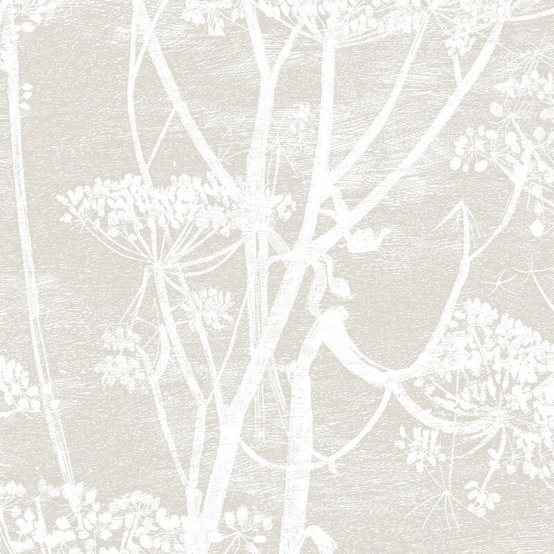 Cole & Son Cow Parsley Linen/White Wallpaper - 95/9051