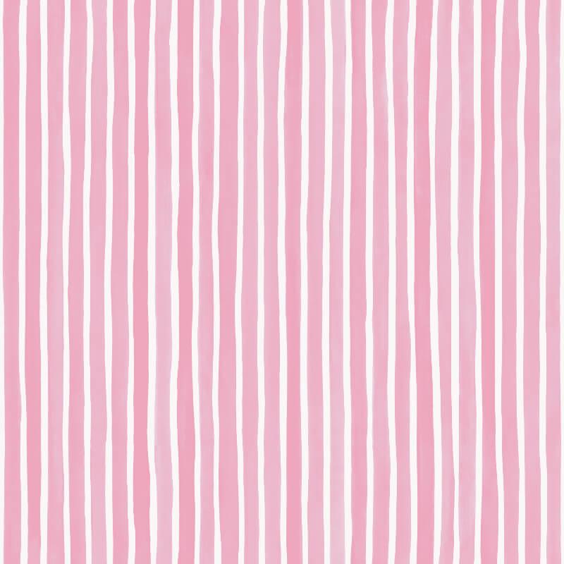 Cole & Son Croquet Stripe Soft Pink Wallpaper - 110/5029