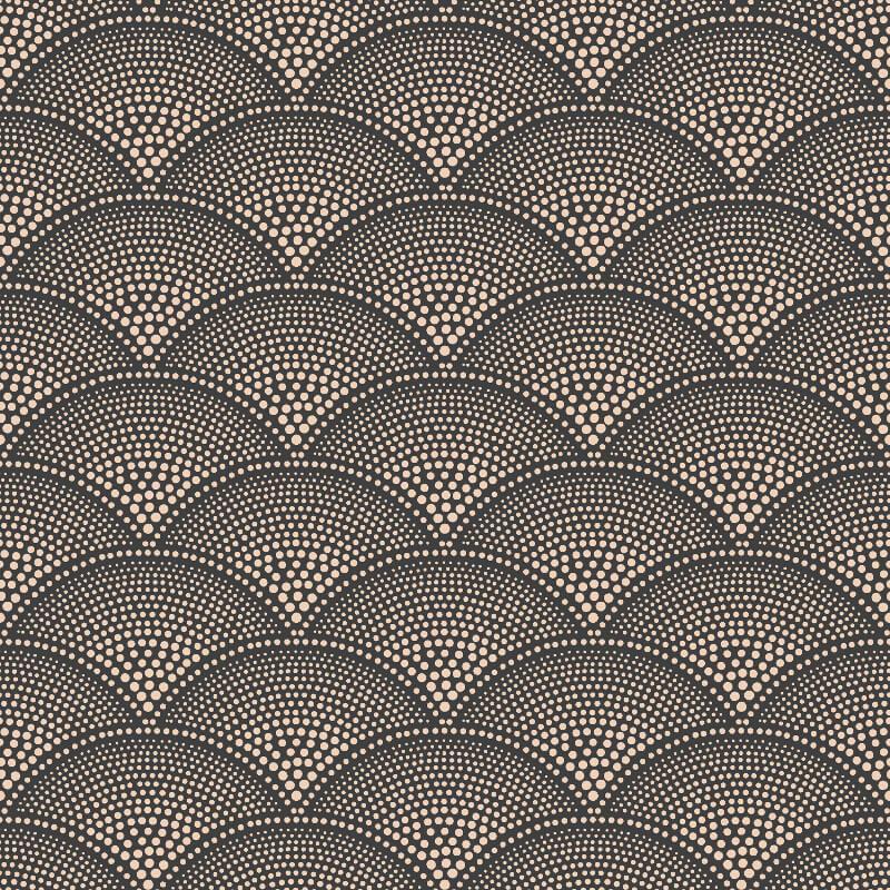 Cole & Son Feather Fan Charcoal/Bronze Wallpaper - 112/10033