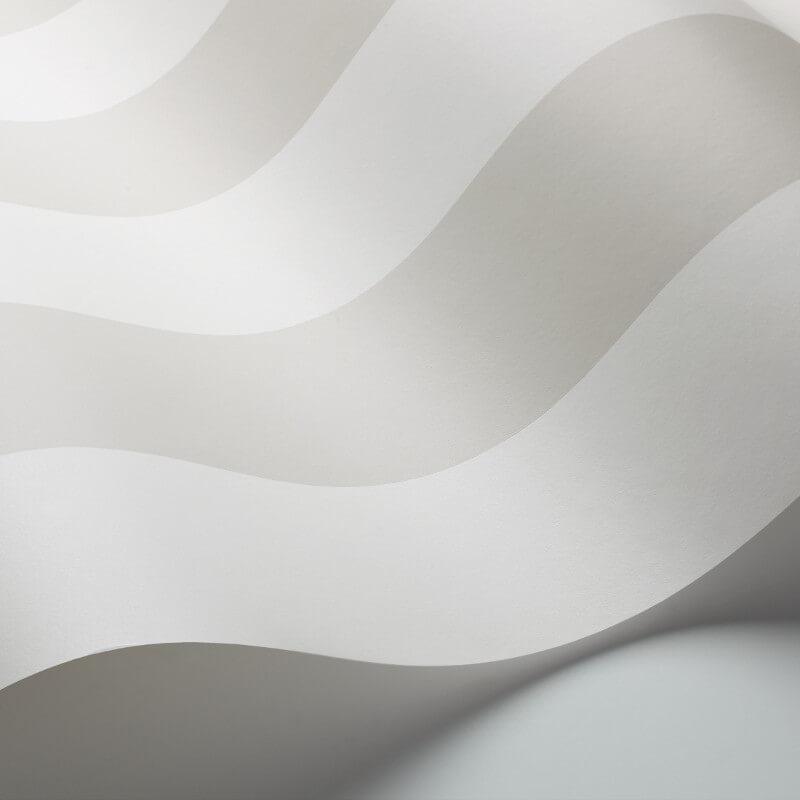 Cole & Son Glastonbury Stripe White Wallpaper - 96/4018