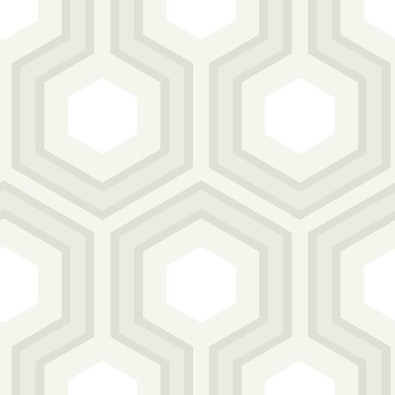 Cole & Son Hicks Grand Grey/White Wallpaper - 95/6037