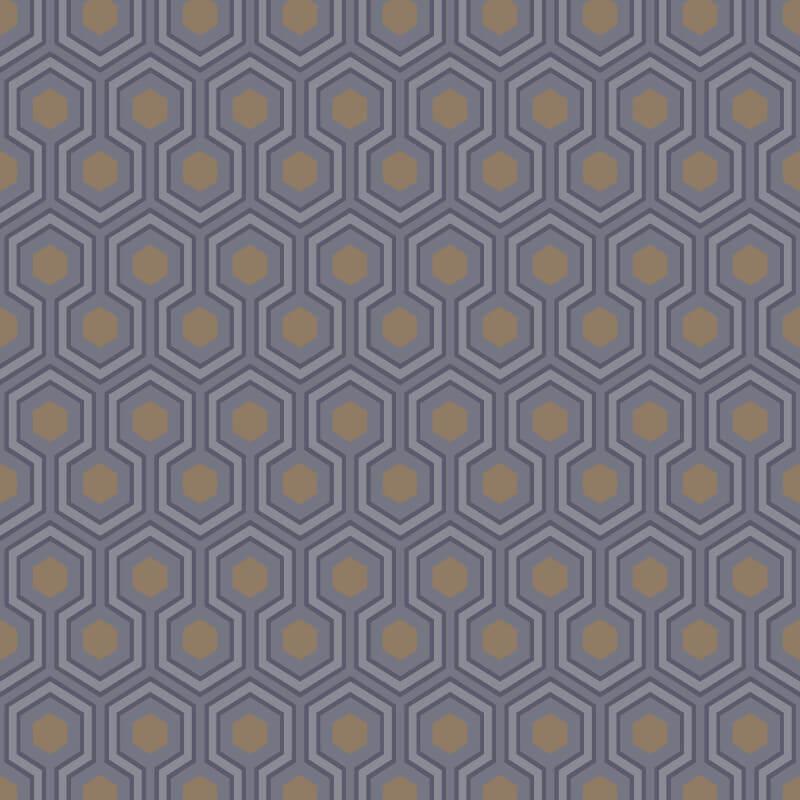 Cole & Son Hicks Hexagon Black/Grey Wallpaper - 95/3015
