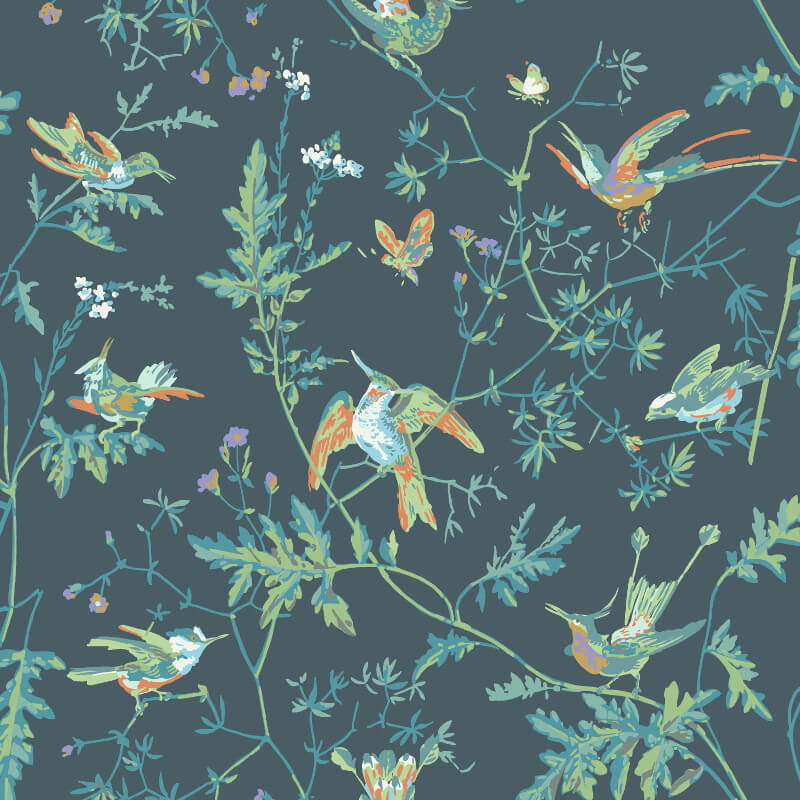 Cole & Son Hummingbirds Viridan Wallpaper - 112/4014