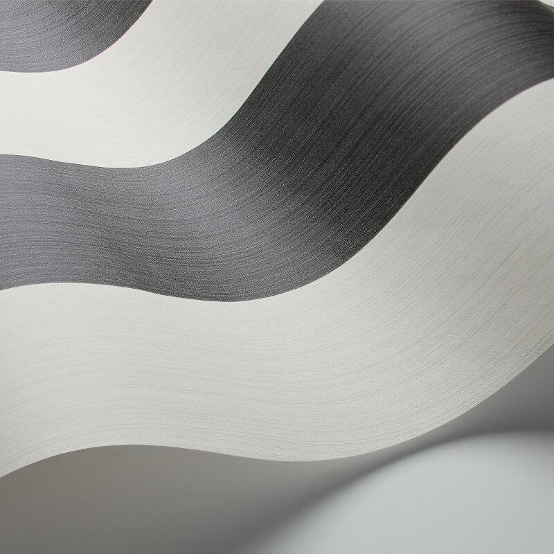 Cole & Son Jaspe Stripe Black/White Wallpaper - 110/4025