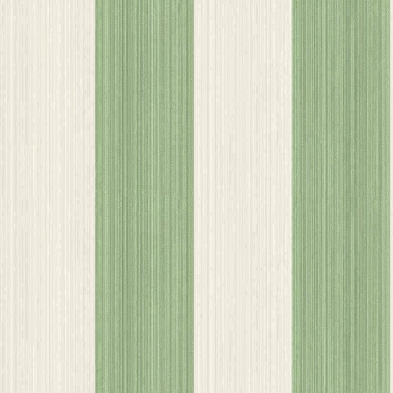 Cole & Son Jaspe Stripe Green/Cream Wallpaper - 110/4022