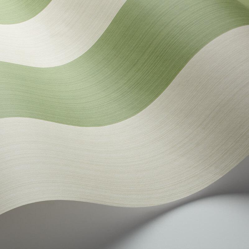 Cole & Sone Jaspe Stripe Green/Cream Wallpaper - 110/4022