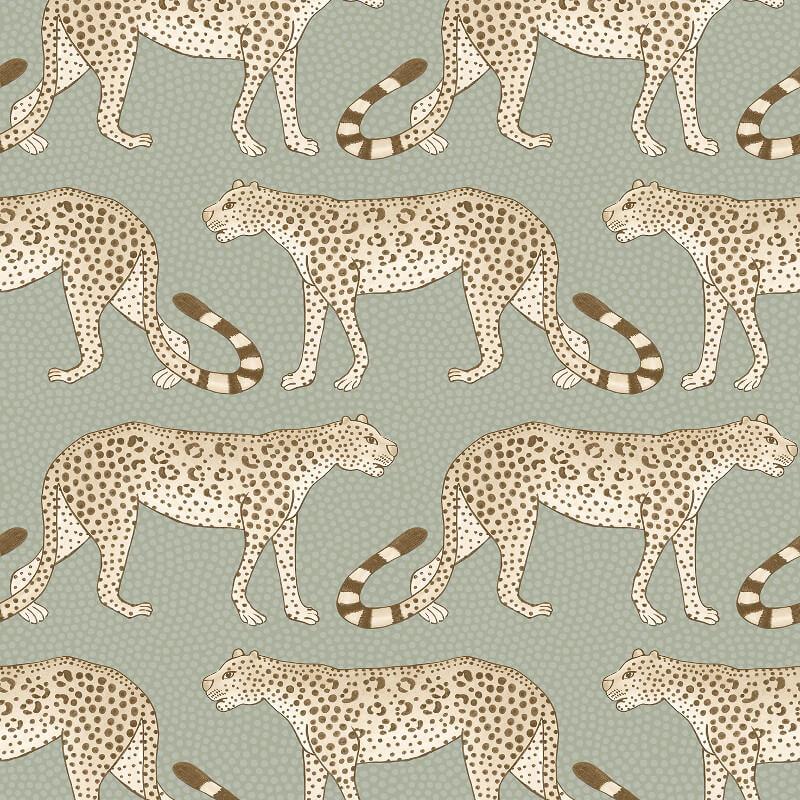 Cole & Son Leopard Walk Olive/White Wallpaper - 109/2009