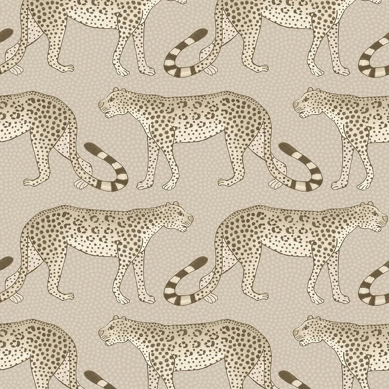 Cole & Son Leopard Walk Stone Wallpaper - 109/2012
