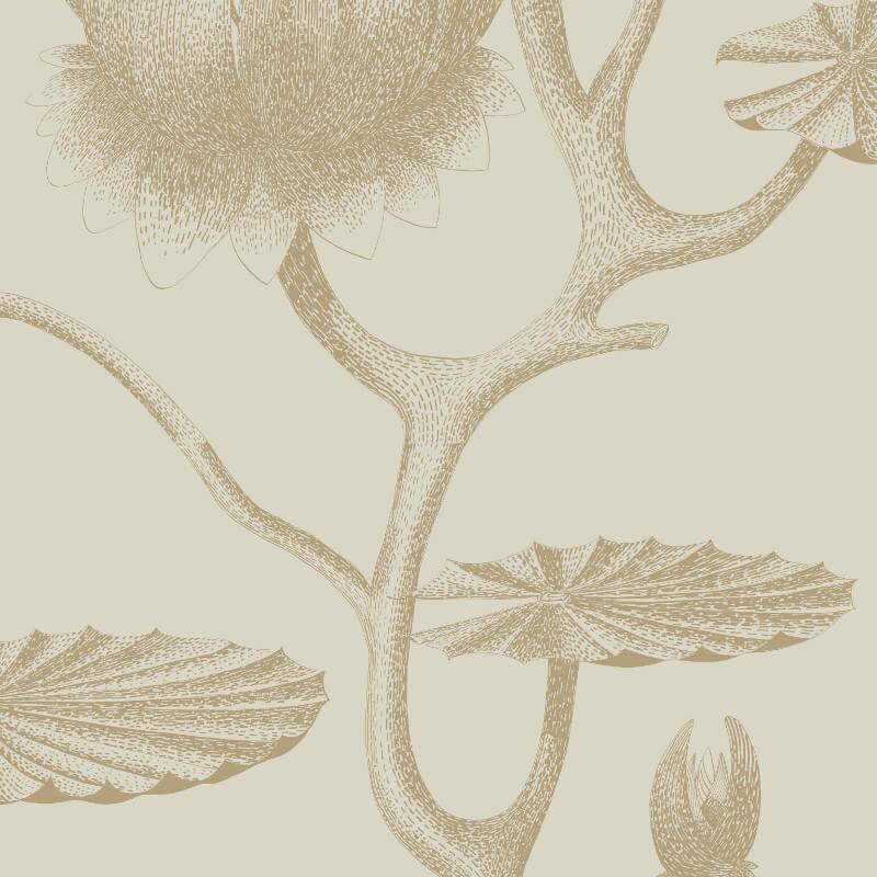 Cole & Son Lily Gold/Linen Wallpaper - 95/4019
