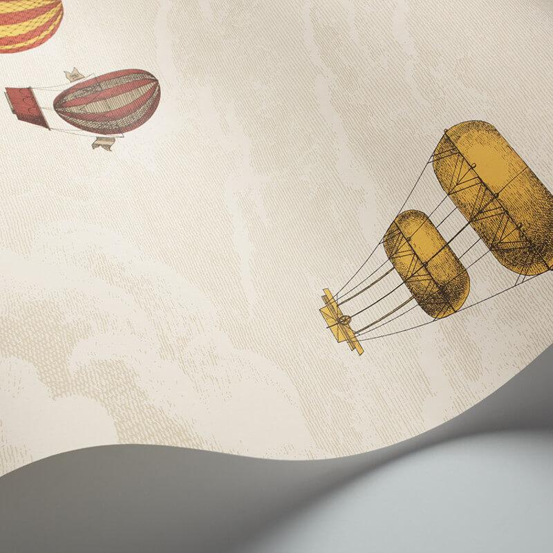 Cole & Son Macchine Volanti Red/Yellow Wallpaper - 97/1001